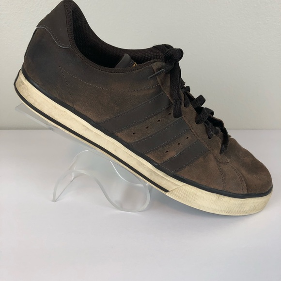 adidas Neo Brown Suede Ortholite Insole Shoes 10